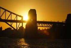 Sunrise. Beautiful Bridge in the early morning sun Stock Photos