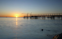 Sunrise. On a beach a winter morning Royalty Free Stock Photography