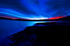 Sunrise. Beautiful sunrise of the bulgarian Batak dam lake Royalty Free Stock Photos