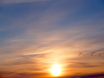 Sunrise. In the sky with easy clouds Stock Images