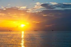 Sunrise. Over Atlantic ocean, FL, USA Royalty Free Stock Images