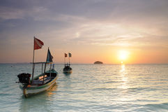 Sunrise. At Lipe island of beautiful South Sea islands. Another in Thailand Royalty Free Stock Photography