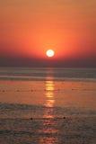 Sunrise. Bright sunrise over the Mediterranean Sea Stock Images