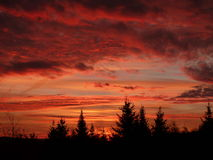 Sunrise. A beautiful,colorful sunrise over rural Quebec Royalty Free Stock Photography
