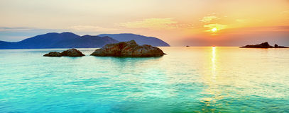 Sunrise. Over the sea. Con Dao. Vietnam Royalty Free Stock Photography