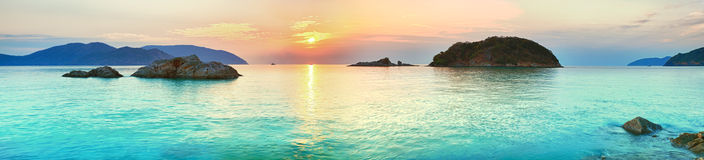 Sunrise. Over the sea. Con Dao. Vietnam Stock Images