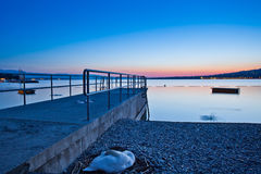 Sunrise. At Lake Geneva bear the city Stock Photos