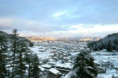 Sunrise. In the remote area of gifu prefecture japan royalty free stock photo