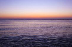 Sunrise. A beautiful sunrise over the sea Stock Images