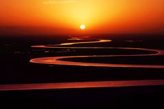 Sunrise. Very beautiful sunrise and the river Stock Photo