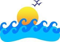 Sunrise. A vector drawing represents sunrise design Stock Photo