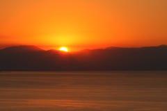 Sunrise Mountain Sea Stock Photography
