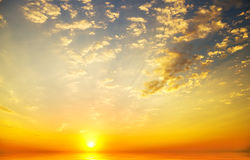 Sunrise. Over ocean. Nature composition Royalty Free Stock Image