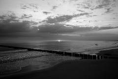 Sunrise. Over the Baltic Sea Stock Photos