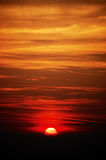 Sunrise. Beautiful spectacular sunrise, low clouds, vertical orientation Stock Photo