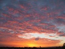 Sunrise. Taken at 7am in Evesham, Glouchestershire, UK stock photo