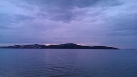 Sunrise. Over island in Croatia Stock Photography