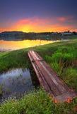 Sunrise湖 免版税库存照片