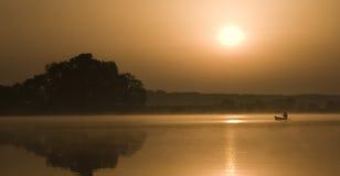 Sunrise. Vacations, summer, orange, boat Stock Photo