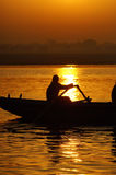 Sunrise. Viewed from boat, India Royalty Free Stock Photography