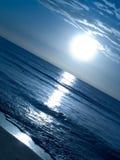 Sunrise. In the Hammamet beach, Tunisia royalty free stock photos