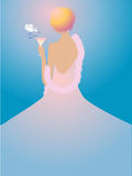 Sunrise. Vector illustration of a girl-sunrise. EPS file included Royalty Free Stock Photos
