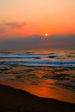 Sunrise. Beautiful sunrise at early morning on beach, picture taken on Umhlanga beach, Durban, South Africa Stock Photo