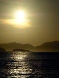 Sunrise. At Praia Vermelha (Red beach) Rio de Janeiro - Brazil stock photo