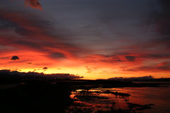 Sunrise. In Ushuaia, Argentina Royalty Free Stock Photography
