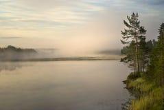 Sunrise. Over a river in Halsingland, Sweden Stock Image