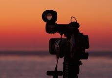 SUNRISE. Sunset on the Black Sea shore and  XL2 Stock Image