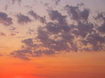 Sunrise. Early morning sunlight paints the cloudy sky Royalty Free Stock Images