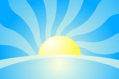 Sunrise. Vector illustration of sunrise background Stock Photos