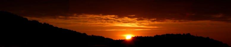 Sunrise. Panorama stock images