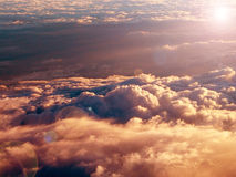 Sunrise. Over the clouds-digital interpretation Stock Image