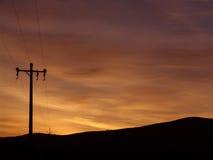 Sunrise. Telegraph Pole Sunrise stock photos