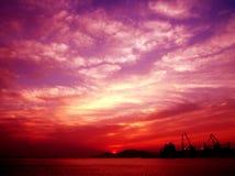 Sunrise. Beautiful sunrise.Warm clean and Vibrant Royalty Free Stock Image