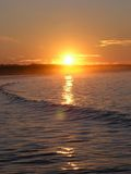 Sunrise. At martinique beach, eastern canada stock photography