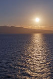 Sunrise above Aegean sea Royalty Free Stock Photos