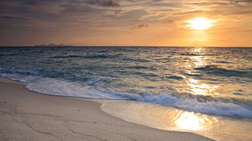 Sunrise above Andaman sea with beautiful beach Stock Images