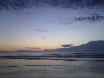 Sunrise above Atlantic Ocean Seen from Daytona Beach in Florida. Stock Images