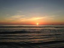 Sunrise above Atlantic Ocean. Stock Image