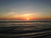 Sunrise above Atlantic Ocean. Royalty Free Stock Image