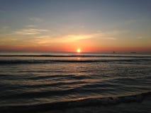 Sunrise above Atlantic Ocean. Stock Images