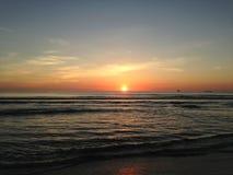 Sunrise above Atlantic Ocean. Stock Photos