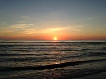 Sunrise above Atlantic Ocean. Royalty Free Stock Photo