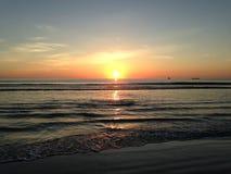 Sunrise above Atlantic Ocean. Royalty Free Stock Images
