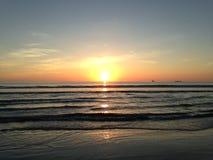 Sunrise above Atlantic Ocean. Stock Photo