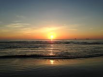 Sunrise above Atlantic Ocean. Royalty Free Stock Photography