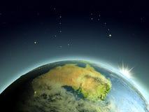 Sunrise above Australia Royalty Free Stock Image